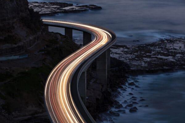 Long Exposure Photo of Highway
